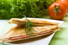 σάντουιτς ζαμπόν τυριών πρόσ Στοκ Εικόνες