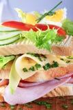 σάντουιτς ζαμπόν τυριών Στοκ Εικόνες