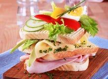 σάντουιτς ζαμπόν τυριών Στοκ φωτογραφίες με δικαίωμα ελεύθερης χρήσης