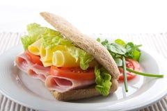 σάντουιτς ζαμπόν τυριών Στοκ εικόνα με δικαίωμα ελεύθερης χρήσης