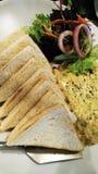 Σάντουιτς και σαλάτα στο πιάτο στοκ φωτογραφία με δικαίωμα ελεύθερης χρήσης