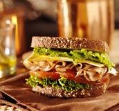 Σάντουιτς κρέατος Deli με την Τουρκία Στοκ φωτογραφίες με δικαίωμα ελεύθερης χρήσης