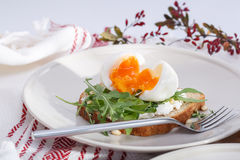 Σάντουιτς με τα αυγά στοκ εικόνα
