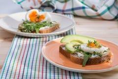 Σάντουιτς με τα αυγά στοκ εικόνες με δικαίωμα ελεύθερης χρήσης