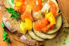 Σάντουιτς με τα λαχανικά ratatouille Στοκ Φωτογραφίες