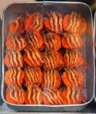 Σάντουιτς με τις γαρίδες στην οδό snackbar στοκ φωτογραφία