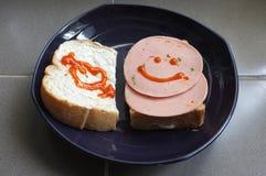 Σάντουιτς με το ζαμπόν χοιρινού κρέατος Στοκ Εικόνες