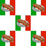 Σάντουιτς με το ιταλικό σχέδιο υποβάθρου σημαιών Στοκ φωτογραφίες με δικαίωμα ελεύθερης χρήσης