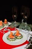 Σάντουιτς με το τυρί και το σολομό κρέμας Στοκ φωτογραφία με δικαίωμα ελεύθερης χρήσης