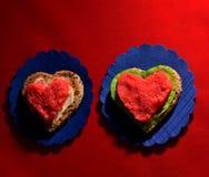 Σάντουιτς με capelin τα αυγοτάραχα Στοκ εικόνα με δικαίωμα ελεύθερης χρήσης