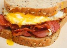 Σάντουιτς μπέϊκον & αυγών στοκ εικόνα