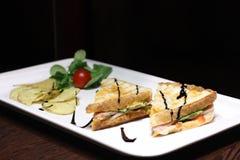 Σάντουιτς μπέϊκον και τυριών Στοκ Φωτογραφίες
