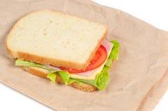 Σάντουιτς ντοματών, σαλαμιού και τυριών Στοκ Φωτογραφία