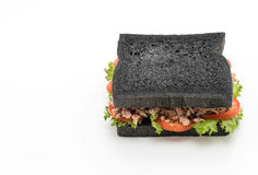 σάντουιτς ξυλάνθρακα τόνου Στοκ Φωτογραφίες