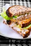 σάντουιτς πιάτων 02 αυγών Στοκ Εικόνες