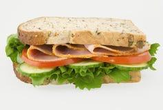 σάντουιτς σαλάτας ζαμπόν Στοκ εικόνα με δικαίωμα ελεύθερης χρήσης