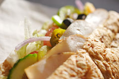 σάντουιτς σαλάτας κοτόπ&omic Στοκ Εικόνα