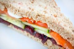 σάντουιτς σαλάτας Στοκ Εικόνα