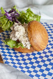 Σάντουιτς σαλάτας κοτόπουλου Στοκ φωτογραφίες με δικαίωμα ελεύθερης χρήσης