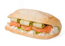 σάντουιτς σολομών αγγουριών Στοκ εικόνα με δικαίωμα ελεύθερης χρήσης