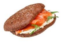 σάντουιτς σολομών Στοκ εικόνες με δικαίωμα ελεύθερης χρήσης