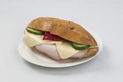 Σάντουιτς στο πιάτο Στοκ φωτογραφία με δικαίωμα ελεύθερης χρήσης