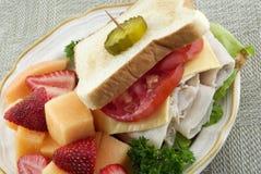 σάντουιτς Τουρκία πιάτων &ka Στοκ Φωτογραφία
