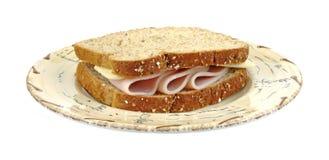 σάντουιτς Τουρκία τυριών Στοκ εικόνα με δικαίωμα ελεύθερης χρήσης