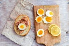 Σάντουιτς τόνου και αυγών Στοκ φωτογραφίες με δικαίωμα ελεύθερης χρήσης