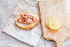 Σάντουιτς τόνου και αυγών Στοκ Εικόνα