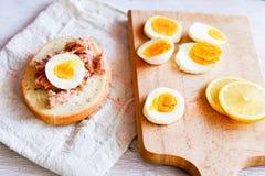 Σάντουιτς τόνου και αυγών Στοκ Εικόνες