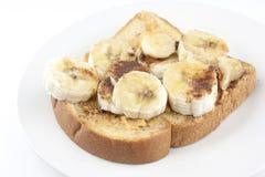 Σάντουιτς φυστικοβουτύρου και μπανανών Στοκ φωτογραφία με δικαίωμα ελεύθερης χρήσης
