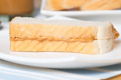 Σάντουιτς φυστικοβουτύρου Στοκ εικόνα με δικαίωμα ελεύθερης χρήσης