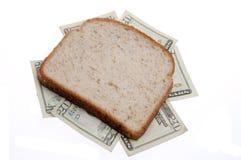 σάντουιτς χρημάτων Στοκ Φωτογραφία