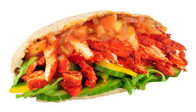 Σάντουιτς ψωμιού Pitta κοτόπουλου Tandoori στοκ φωτογραφίες με δικαίωμα ελεύθερης χρήσης