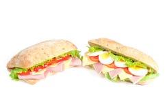 σάντουιτς δύο Στοκ εικόνα με δικαίωμα ελεύθερης χρήσης