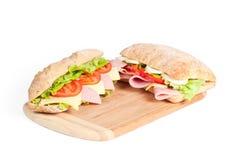 σάντουιτς δύο Στοκ Εικόνες