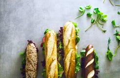 Σάντουιτς Deli με τα λαχανικά Στοκ Εικόνες
