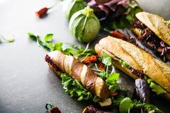 Σάντουιτς Deli με τα λαχανικά Στοκ Φωτογραφίες