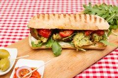 Σάντουιτς Vegan falafel στοκ φωτογραφίες