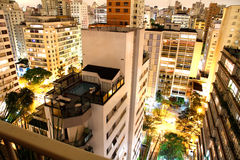 Σάο του Paulo νύχτας στοκ φωτογραφία