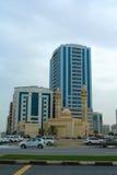 Σάρτζα, Ηνωμένα Αραβικά Εμιράτα: Μουσουλμανικό τέμενος Al Ekhlas, Al Khan στοκ φωτογραφία