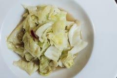 Σάλτσα ανακατώνω-τηγανητών λάχανων Στοκ Εικόνες