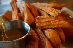 Σάλτσα γλυκών πατατών και καραμέλας Στοκ εικόνα με δικαίωμα ελεύθερης χρήσης