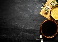 Σάλτσα ρυζιού και σόγιας Στοκ Φωτογραφίες