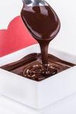 Σάλτσα σοκολάτας Στοκ φωτογραφίες με δικαίωμα ελεύθερης χρήσης