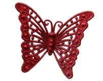 Σάλτσα του νέου έτους η κόκκινη πεταλούδα Στοκ εικόνες με δικαίωμα ελεύθερης χρήσης