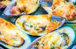 Σάλτσα τυριών κρέμας μυδιών Στοκ Εικόνες