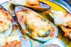 Σάλτσα τυριών κρέμας μυδιών Στοκ εικόνες με δικαίωμα ελεύθερης χρήσης