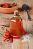 Σάλτσα Tabasco στο μπουκάλι Στοκ Εικόνες